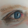 "Window to the Soul"", colored pencil by Misty Dawson"